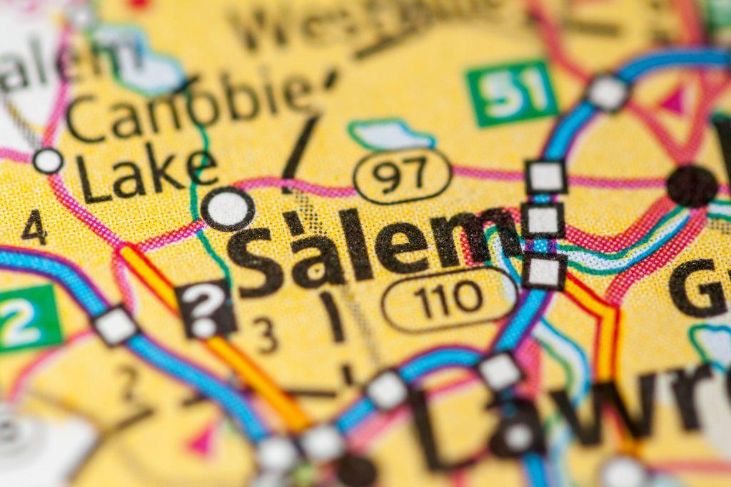Salem, NH on a Map